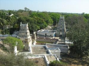 View from top of Bangaru Tirupati