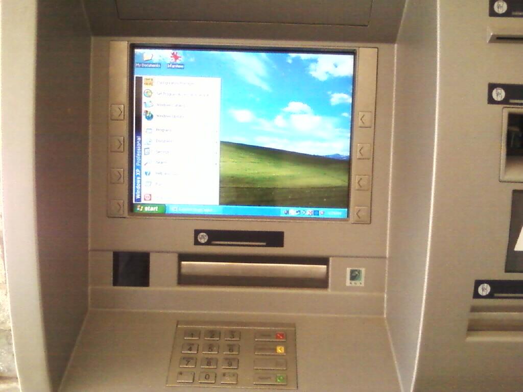 SBI ATM using Windows XP Professional