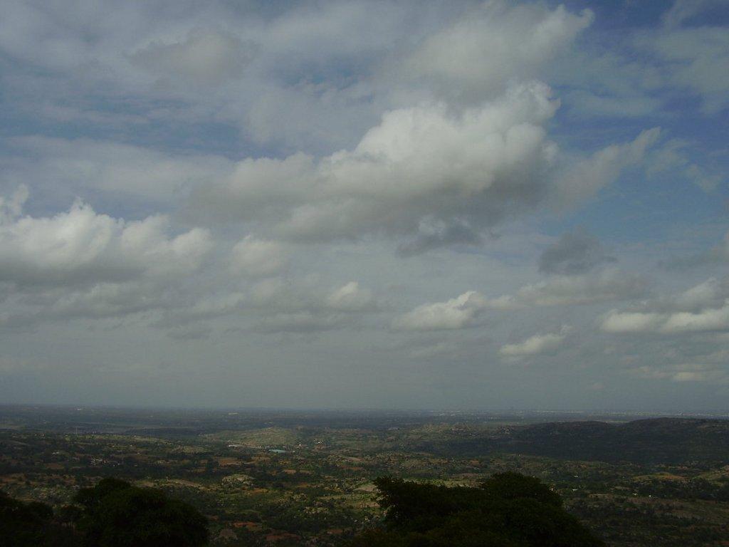 Bird's eye view from atop Savandurga
