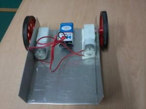 Bare machine with wheel and motors