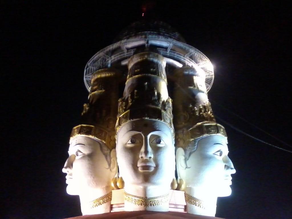 Three faces of Lord Shiva