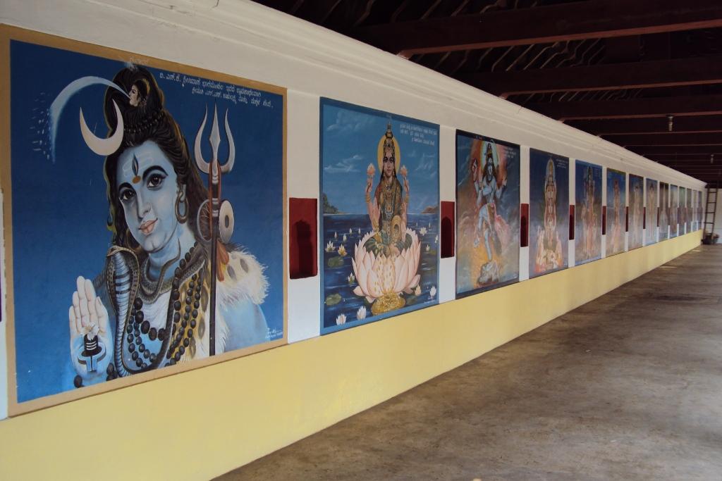 Madikeri Omkareshwara Temple Wall Paintings