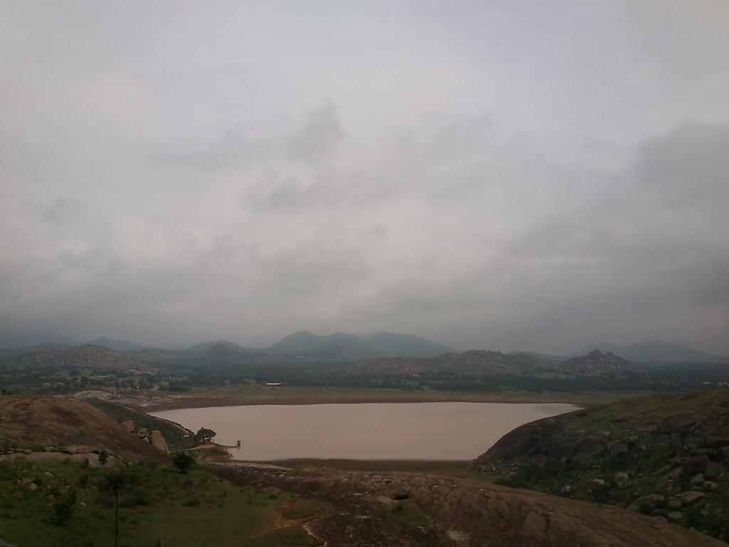 Maidala Lake as viewed from Basadi Betta